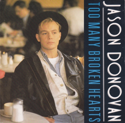 Jason Donovan Too Many Broken Hearts Single Cover
