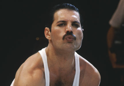 Freddie Mercury Blows A Kiss