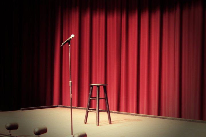 Stand up comedy stage