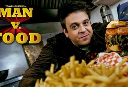 man vs food adam richman and logo