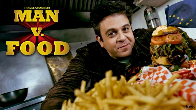 man vs food adam richman and logo