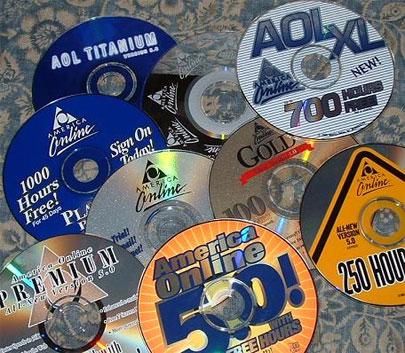 AOL CDs 90s AOL Logos