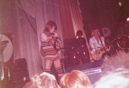 David Bowie and Mick Ronson Brighton Dome 1972 taken by my Mum. #bowie #davidbowie #brighton
