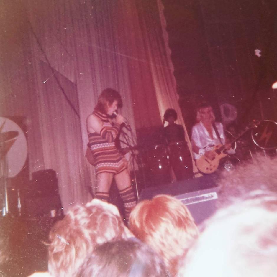 David Bowie and Mick Ronson Brighton Dome 1972 taken by my Mum. #bowie #davidbowie #brighton